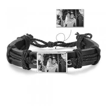 CBA103007 - Personalized Men's Photo Fashion Bracelet