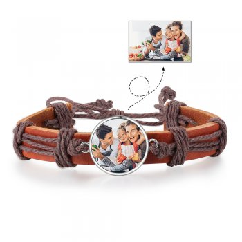 CBA102887 - Personalized Men's Photo Fashion Bracelet