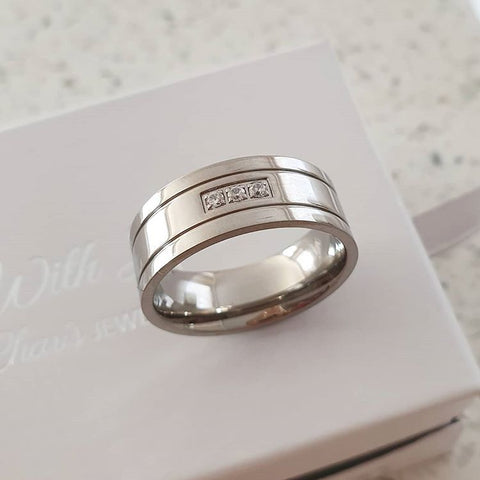 Men's ring stainless steel