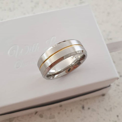 C1005-C32602 - Men's ring, Stainless Steel, Sizes 8-11