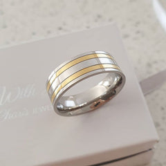 Men's ring, stainless steel