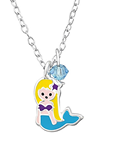 C635-C32745 - 925 Sterling Silver Children's Mermaid Beach Necklace