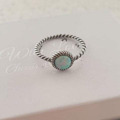 C1360-C30665 - 925 Sterling Silver Moon Yellow SN Opal Ring