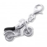 C6-17001 - 925 Sterling Silver Motorbike Charm Dangle