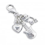 C14-C8069 - 925 Sterling Silver Music dangle for charm bracelet