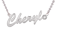 NN5 - Sterling Silver Personalized Name Necklace with Genuine Diamond (Ready in 8 working Days!)