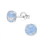synthetic opal ear stud earrings