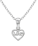 C627-C28580 - Sterling Silver Children's Love Necklace