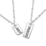 C595-C30449 - Sterling Silver Best Friends Necklace Set of 2