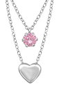 C815-C33004 - 925 Sterling Silver CZ Double Layer Necklace