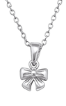 C1338-C28739 - 925 Sterling Silver Children's Bow Necklace