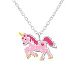 C1302-C32002 - 925 Sterling Silver Children's Unicorn Necklace