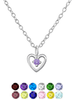sterling silver children's birthstone necklace online store South Africa