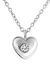 C383-C34846 - 925 Sterling Silver Heart CZ Necklace