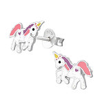 C1304-C37571 - 925 Sterling Silver Children's Unicorn Earrings