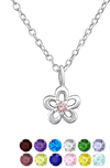 Kids sterling silver birthstone necklace online store in South Africa