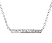 C952-C24290 - 925 Sterling Silver CZ Inline Necklace