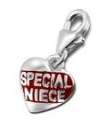 C329-C15037 - 925 Sterling Silver Special Niece Dangle Charm