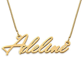 N45 - Tiny Name Necklace in 14K Solid Gold