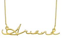 N46 - Signature Style Sterling Silver Name Necklace in 18K Gold Plating