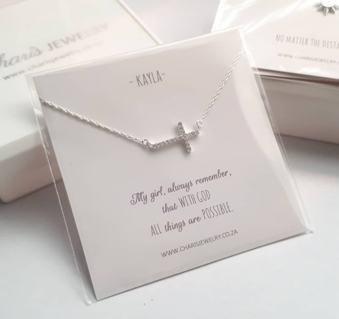PN2 - Personalized Note Card for a Necklace in a gift box