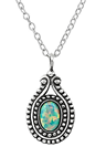 C395-C23632 - 925 Sterling Silver Moon Yellow Opal Necklace