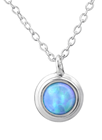 C605-C29634 - 925 Sterling Silver Azure Opal Necklace