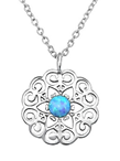 C396-C31397 - 925 Sterling Silver Azure Opal Necklace
