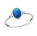 C294-C30546 - 925 Sterling Silver Pacific Blue Opal Ring