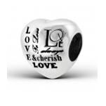 C110-C12933 - Sterling Silver Love & Cherish Always European Bead