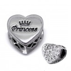 C64-C10414 - 925 Sterling Silver Princess, Sparkle European Charm Bead