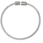CB119 - Stainless Steel European Bead Bangle, Easy Flexible (compatible with popular brands)