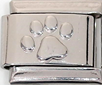 STS-09 - Stainless Steel Paw Plain Italian Charm Link