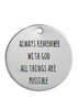 KR10 - Personalized Gift Keyring, Stainless Steel 30mm Round Disc