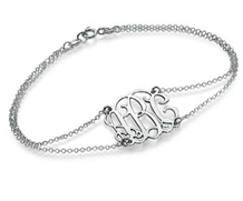 UN809 - 925 Sterling Silver Personalized Initials bracelet