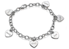 Sterling Silver personalized family names heart bracelet online shop