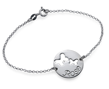 N810 - 925 Sterling Silver Personalized Butterfly Bracelet