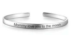 SJ1 - Stunning 925 Sterling Silver Personalized Message Bangle