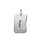 N523 - 925 Sterling Silver Personalized Charm Tag for DIY Necklace
