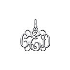 N503 - 925 Sterling Silver Personalized Monogram charm