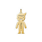 N506 - Gold Plated Personalized Boy Name Charm for DIY Necklace