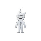 N505 - 925 Sterling Silver Personalized Name Boy Charm
