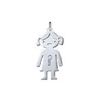 N508 - 925 Sterling Silver Personalized Name Girl Charm for DIY Necklace