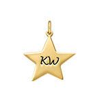 N522 - Gold Plated Personalized Star Charm for DIY Necklace