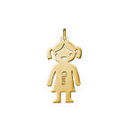 N509 - Gold Plated Personalized Name Girl Charm for DIY Necklace