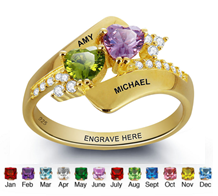 N276 - Gold Plated over 925 Sterling Silver Personalized Ring