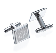 N234 - Stainless Steel Personalized Initial Monogram Cuff Links
