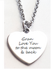 EJ41 - Beautiful personalized heart necklace, silver stainless steel