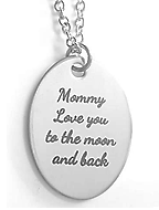 EJ37 - Personalized Necklace with any wording, Stainless Steel, Ready in 5-7 days!