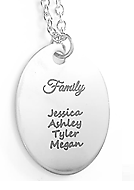 EJ35 - Personalized Mother's Necklace with family names, Stainless Steel, Ready in 5-7 days!